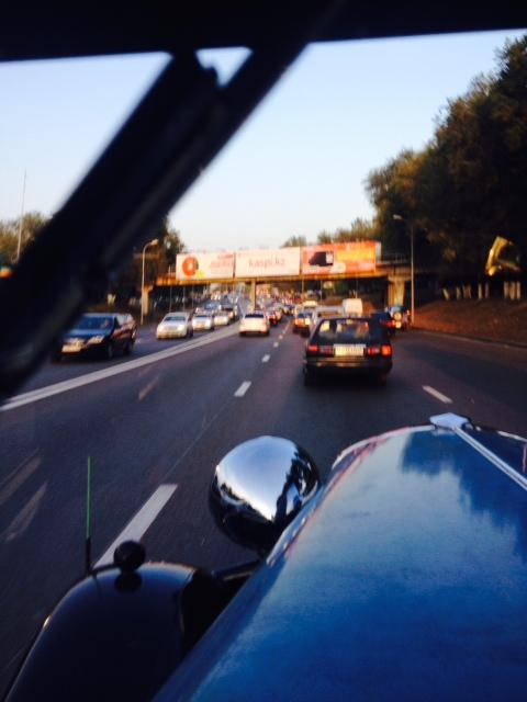 Einfahrt nach Almaty