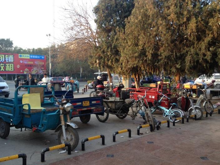 Die Dreiräder in China sind typisch