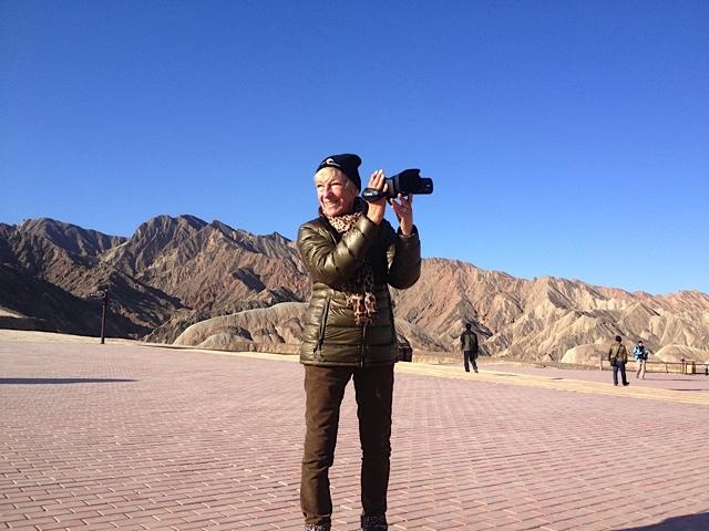 Das bunte Gebirge sieht toll aus und ich übe jetzt mit der Kamera