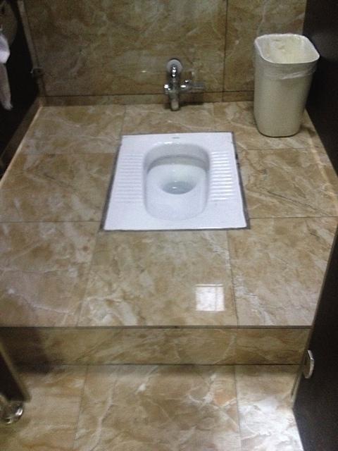 Na das ist mal eine feine Toilette.