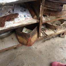 Da ist die Kasse in der Blechbüchse sicher untergebracht