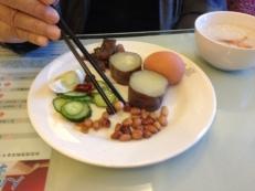Mr. Wangs Frühstück mit Süßkartoffeln