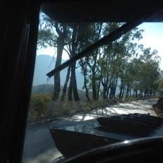 On the road again, mit offener Kühlerhaube, damit Hudo nicht so warm wird.
