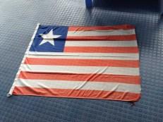 Wir segeln unter Liberianischer Flagge, aber sie wird nicht gehisst.