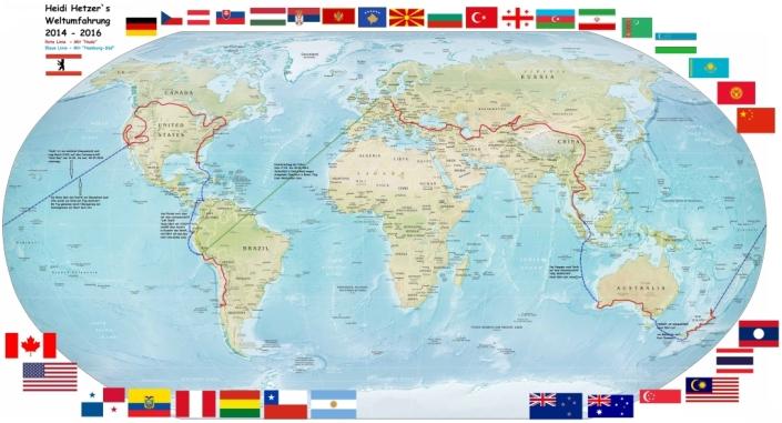 Weltkarte, erstellt von Hagen Jensen